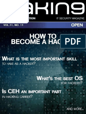 Hakin9 Open - How to become a hacker pdf   Security Hacker   Online