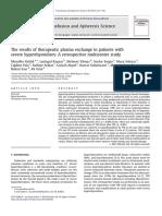 Transfusion and Apheresis Science Volume 48 Issue 3 2013 [Doi 10.1016_j.transci.2013.04.010] Keklik, Muzaffer; Kaynar, Leylagul; Yilmaz, Mehmet; Sivgin, Serd -- The Results of Therapeutic Plasma Exc