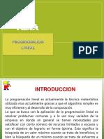 Investigacion de Operaciones Programacion Linial