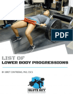 Bret Contreras List of Lower Body Progressions