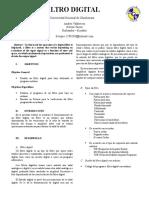 Informe Filtro Arduino