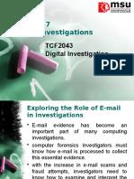 Chap 7 - E-mail Investigations