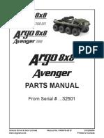 8x8 Avenger Parts Manual 8X8AVG-2012 2012-01-03 From Serial No 32501