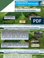 Demian Cosmin-Pavel Efecte Ale Defrișărilor În România