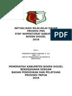 AKTUALISASI NILAI-NILAI DASAR PROVESI PNS INSPEKTORAT KABUPATEN BOVEN DIGOEL PAPUA