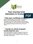 MECCA Institute Orientation 2017/2018