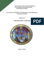 Modulo Comunicación y Lenguaje Area Comun