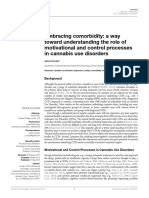Embracing Comorbidity a Way Toward Understanding the Role of Motivational and Control Processes in Cannabis Use Disorders