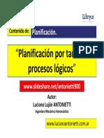 Planificacion por proceso logico - Luciano Lujan ANTONIETTI