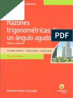 Razones Trigonometricas de Angulos Agudos Lumbreras PDF