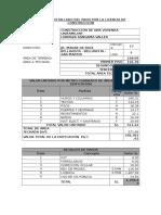 Resumen Detallado Del Pago Por La Licencia de Construcción