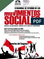 Memorias Del 1er. Congreso Nacional de Estudios de Los Movimientos Sociales