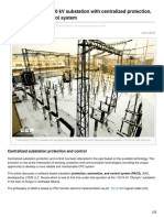 A Case Study of 11010 KV Substation With Centralized Protection Automation and Control System