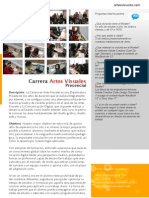 Carrera Artes Visuales Presencial