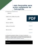 7. Determinacion Del Metodo Mas Favorable Para La Tostacion Sulfatante