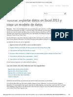 Tutorial 01_ Importar Datos en Excel 2013 y Crear Un Modelo de Datos