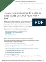 Tutorial No.02 Ampliar Relaciones Del Modelo de Datos Usando Excel 2013, Power Pivot y DAX