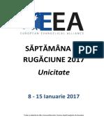 Saptamana de Rugaciune 2017