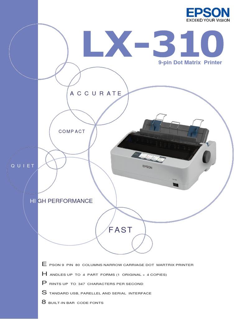 Lx 310 Printer Computing Office Equipment