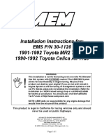 mr2 turbo 19901992 toyota celica all trac ecu pinout diagram page 1aem installmanual30 1120 ignition system fuel injection mr2 turbo 19901992 toyota celica all trac ecu pinout diagram page 1