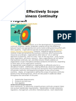 Effectively Scope Your Business Continuity Program
