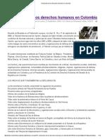 Violaciones de Los Derechos Humanos en Colombia