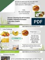 Tingkat Kerusakan Minyak Kelapa Selama Penggorengan Vacum Berulang Pada Industri Ripe Banana Chips (Rbc)