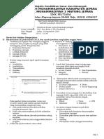 Soal Kelas 12 Tkj (Membuat Desain Sistem Keamanan Jaringan)