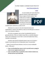 Reinventeaza Te Prin Tehnica Afirmatiilor Pozitive -1