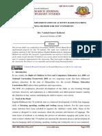 25. Vaishali Kulkarni Research Paper - ABLT Implementation at Std VI