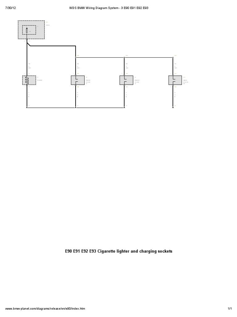 WDS BMW Wiring Diagram System - 3 E90 E91 E92 E93