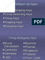 Mga Rehiyon Sa Asya
