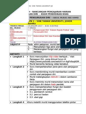 Rph Pengurusan Diri Kssm Pendidikan Khas Abdul Murad Abd Hamid