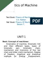 Kineatics Of machines