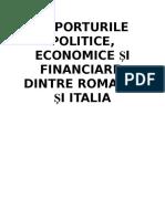 Raporturi Dintre Romania Si Italia