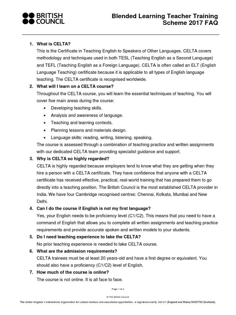 Blended learning teacher training scheme faq teaching english as blended learning teacher training scheme faq teaching english as a foreign language language education 1betcityfo Images