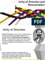 Unity of Direction and Remuneration Final