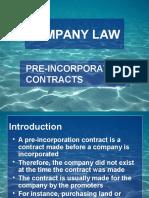 Pre Incorporation Contract