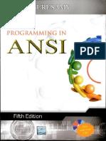 Ansi c Balaguruswamy-C Language