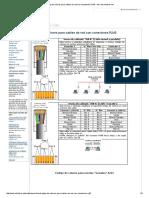 Código de Colores Para Cables de Red Con Conectores RJ45