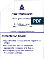 Auto Negotiation Introduction