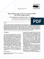 Phase stability in the La-Ba-Cu-O system at 980°C and 200 bar oxygen pressure