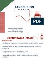 Transfusion Masiva. 2016