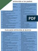 Guía Para Entrevista a Los Padres y Alumnos