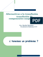 Alternativas Transfusión
