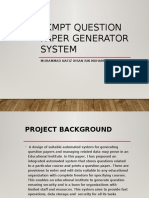 Automatic Question Paper Generator System