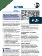 Palestine Apartheid Factsheet