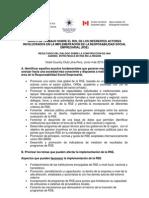 RSE - Resultados del Grupo de Trabajo de la OEA