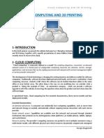 Cloud Computing and 3D Printing