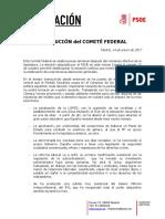 RESOLUCIÓN del COMITÉ-FEDERAL- 14 - 01 - 17